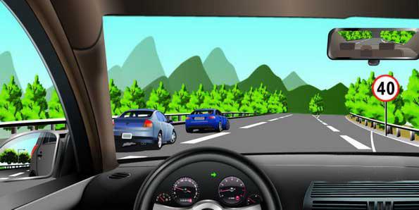 如图所示,驾驶机动车驶入减速车道后最高时速不能超过多少 金手指考高清图片