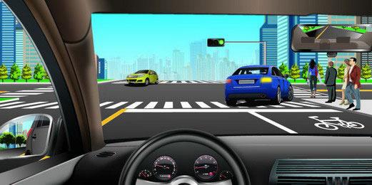 c1驾驶证_如图所示,驾驶机动车跟随前车右转弯时,应当注意的是什么 ...