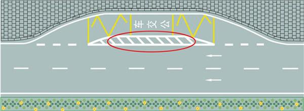 元贝驾考c1科目一_红色圆圈内标线含义是什么? - c1科目一